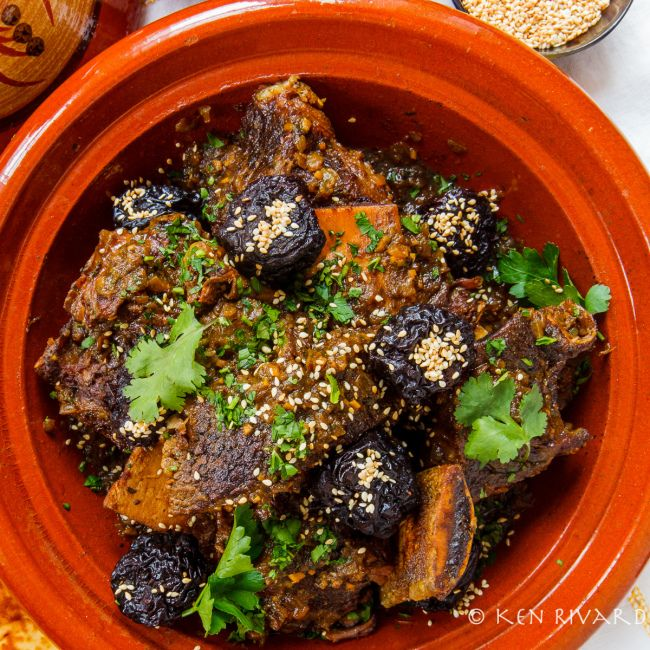 Layla and Mohammed's Moroccan Short Ribs of Beef with Prunes and Ras el Hanout