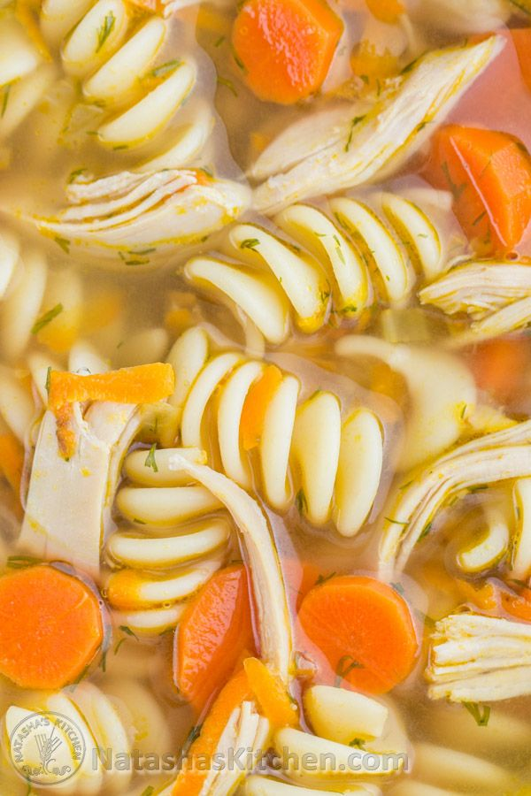 Easy and Delicious Chicken Noodle Soup. The secret is in the chicken thighs! @natashaskitchen