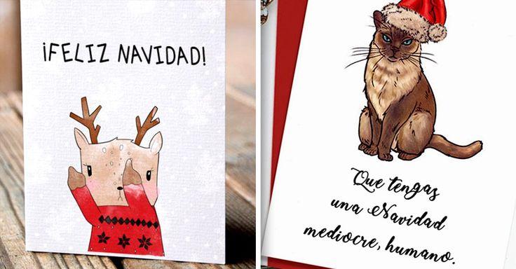 Si esta temporada te choca y te fastidia todo lo que tenga que ver con la Navidad, entonces creo que estas tarjetas son PERFECTAS para ti. ¡Te encantarán!