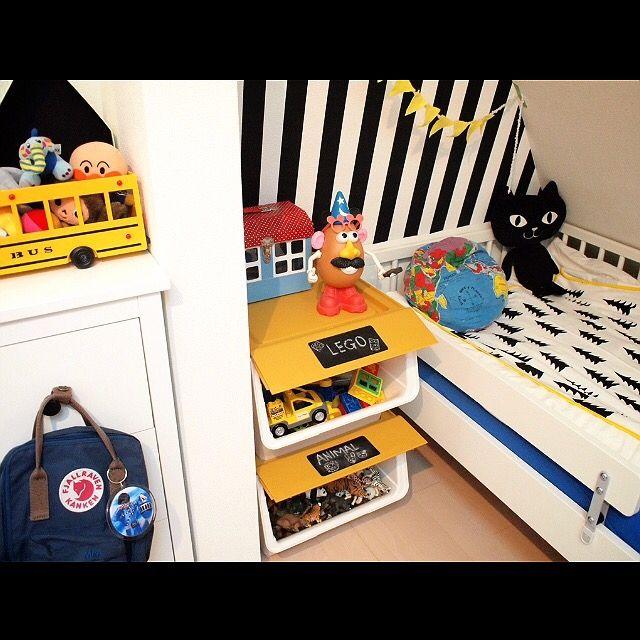 hirooomiiiさんの、finelittleday,IKEA,子供部屋,こども部屋,白黒,froq,squ ,Bedroom,のお部屋写真