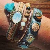 NOOSA Petite bracelet salmon blue | www.bijtij.nl