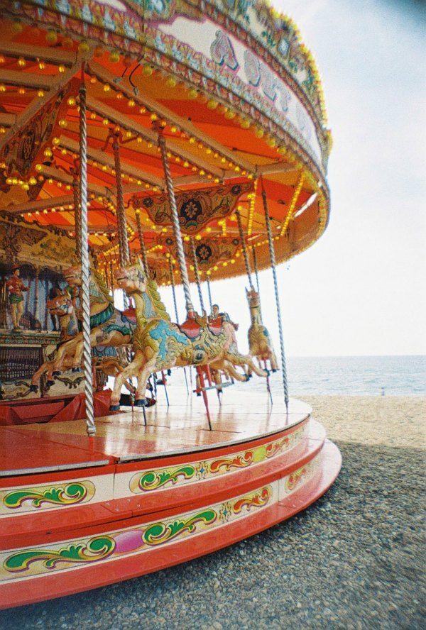 Carousel at Brighton beach, England