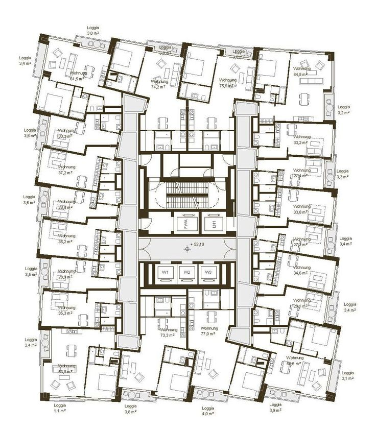46 besten architektur hochhaus grundrisse bilder auf. Black Bedroom Furniture Sets. Home Design Ideas