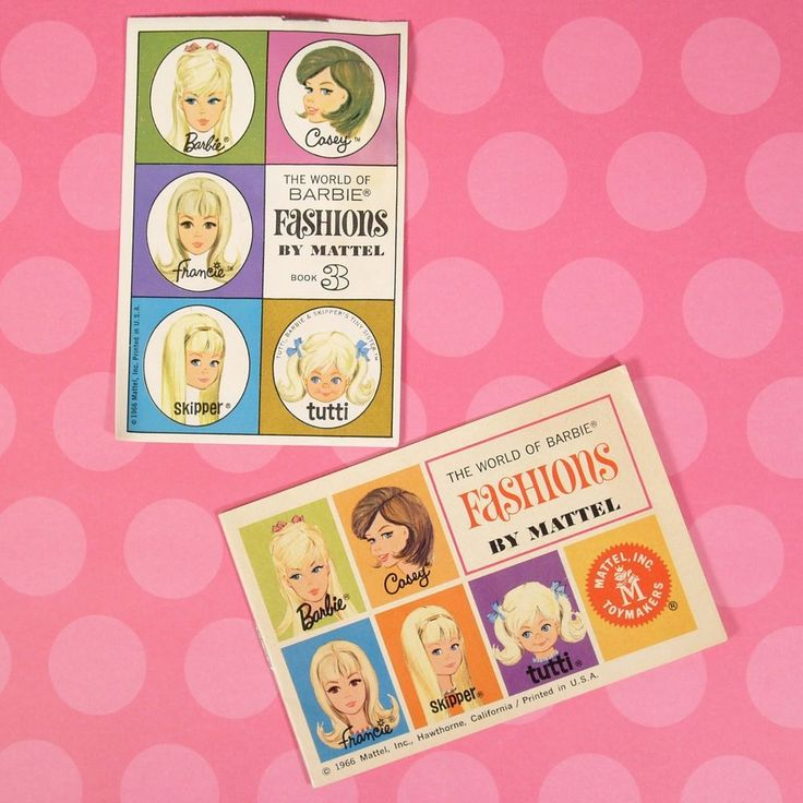 Vintage 2 Book Lot World of Barbie Fashions w/ New Black Francie VGUC 1966 #Mattel #Booklets