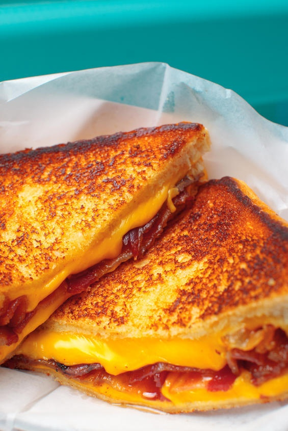 grilled cheese...with bacon!!! heaven right @Susan Caron Stevenson