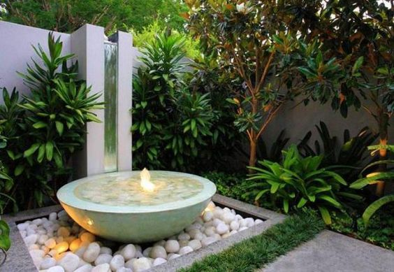 30 ideas para decorar tu jardin con fuentes (2) - Curso de Organizacion del hogar