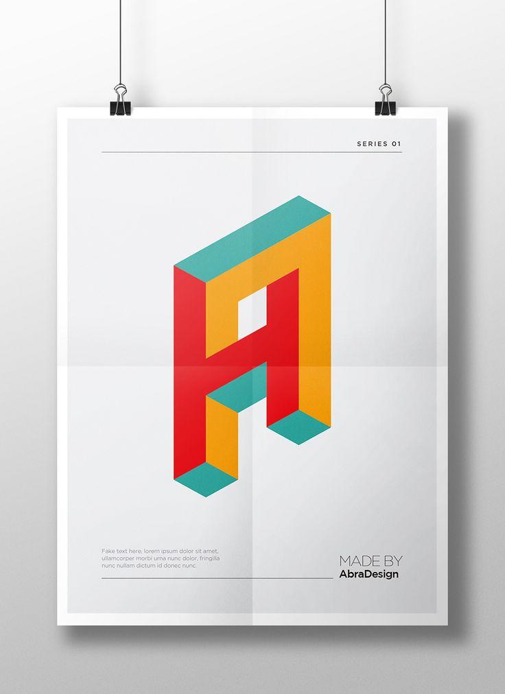 Modern 3D Perspective Alphabet on Behance