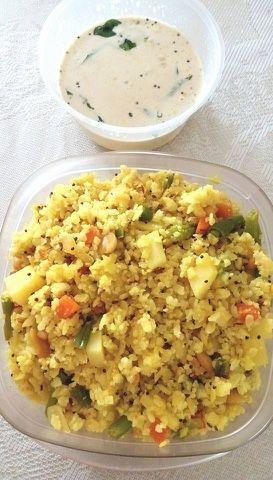 travel recipe instant poha with instant chutney