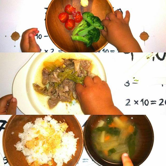 「クッキングアフロパパの幼児食」 昨日の夕飯編! ・ 上から順に出しました。 ①ブロッコリーとトマト ②豚肉と白菜とまいたけのさっと煮 ③鮭フレークご飯、味噌汁 ・ ほぼ完食してくれました。 ・ 絵日記ブログ「アフロパパとイクジーズハイ」も日々更新しています。良かったらプロフィールのリンクから覗いてみて下さい。 ・ #ファイト中田 #幼児食 #おうちごはん #夕飯 #夜ごはん #料理 #パパ #パパごはん #息子 #子供 #手 #2歳児 #クッキング #クックパッド #トマト #ブロッコリー #肉 #豚肉 #白菜 #まいたけ #鮭 #ごはん #ご飯 #味噌汁 #めんつゆ