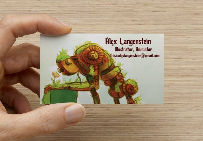Creature Design And Concept Artist Buiness Cards