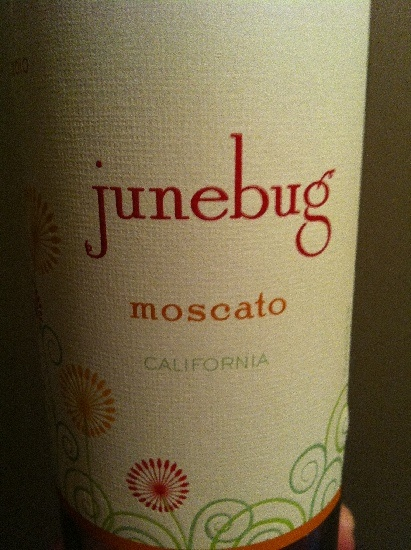 June Bug Moscato Wine 2011 - Very good. Sweet, white wine.