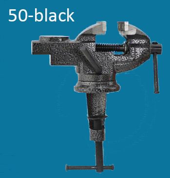 Model 50-BLACK table vice Carbon steel bench screw Bench Vise Hobby Clamp DIY Jewelry woodworking Craft mould Fixed Repair Tool