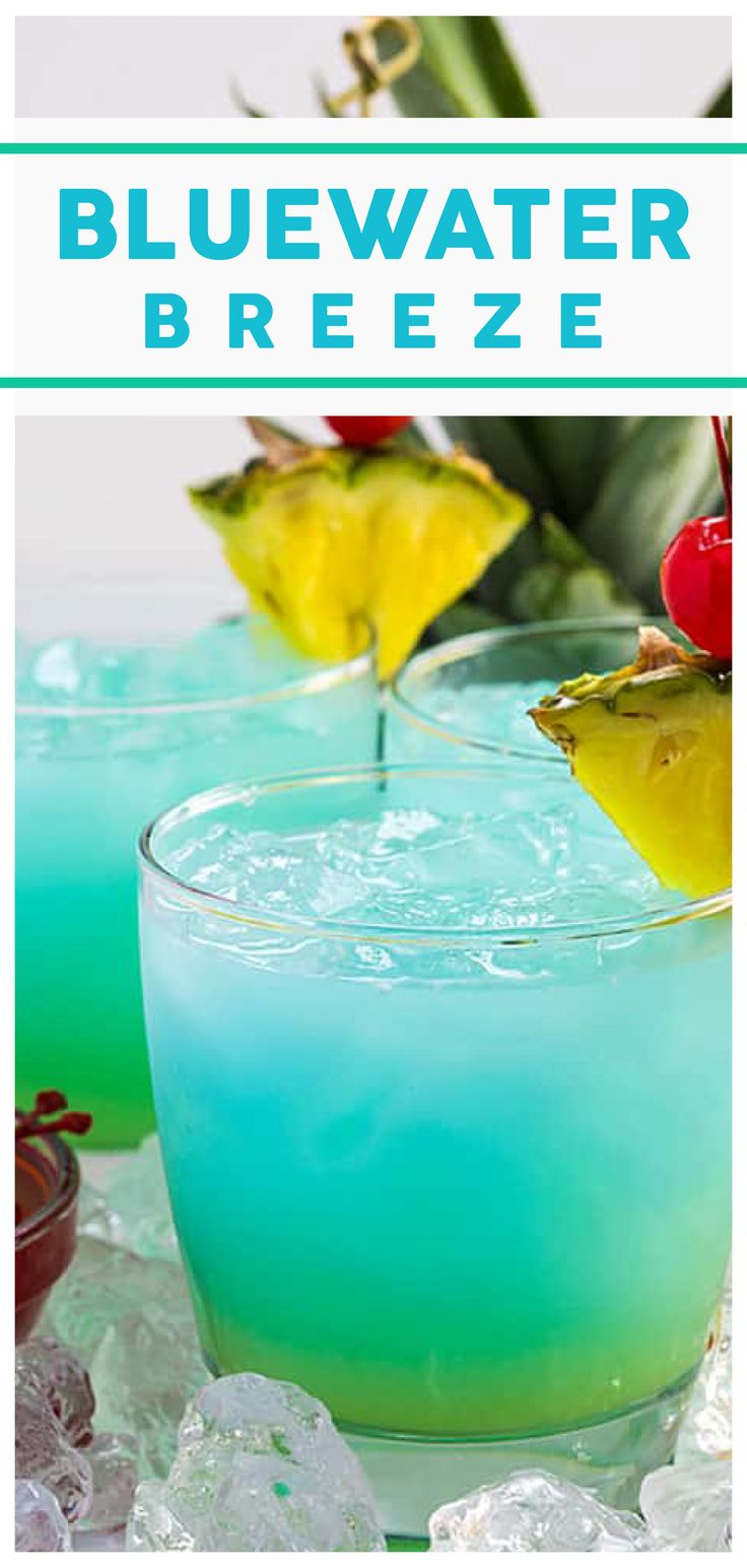 Bluewater breeze cocktail is a great boozy drink to relax ...