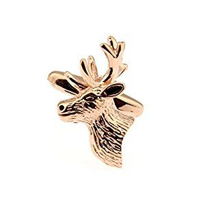AmazonSmile: Rose Gold Stags Head Cufflinks Deer Shooting Hunting Stag Cuff Link: Jewelry