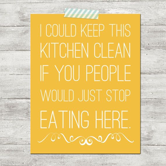 People Cleaning Kitchen: I Could Keep This Kitchen Clean If You People Would Just