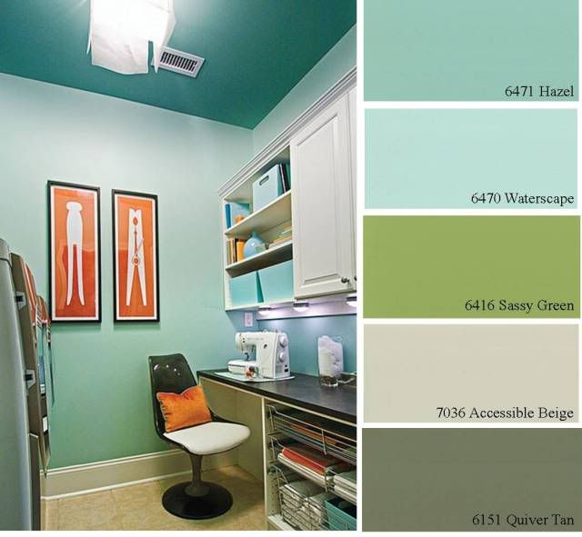 Studio Blue Green Sherwin Williams Joy Studio Design