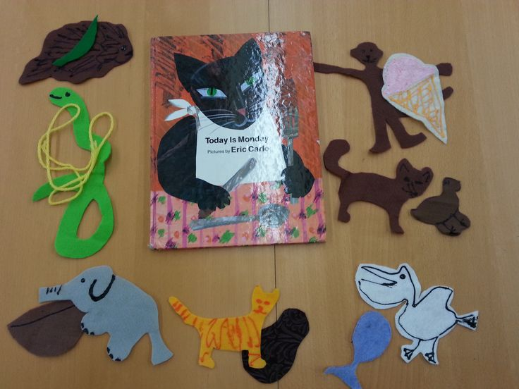 Felt Story Board for Book, Today is Monday by Eric Carle (from Thrive After Three)