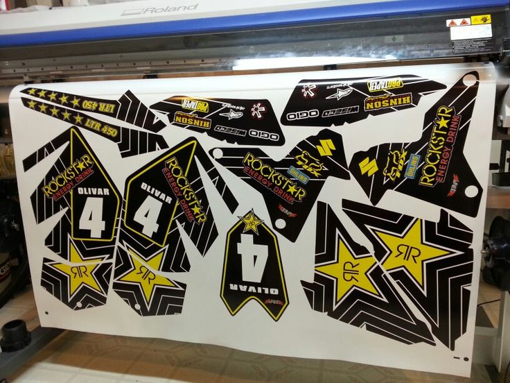 Suzuki Ltr 450 Black Rockstar Graphics Kit Mx Amp Atv