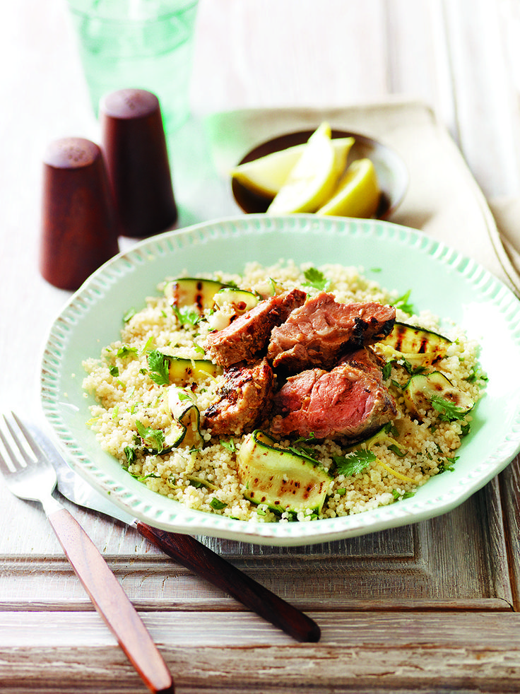 Moroccan Lamb with Lemon Couscous - This is a quick and easy Moroccan lamb recipe, packed full on flavour and on the table in 20 minutes.