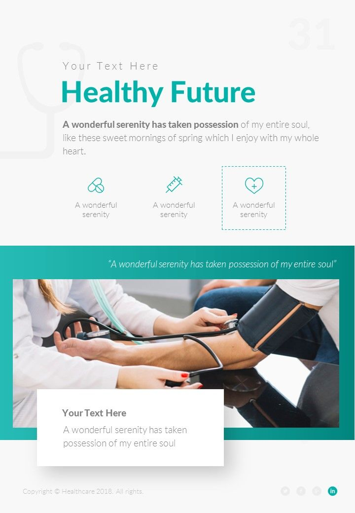 Healthcare Portrait Medical Powerpoint Template Ad