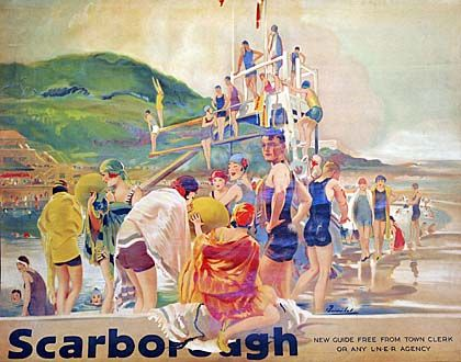 A photo of a tourist poster for Scarborough
