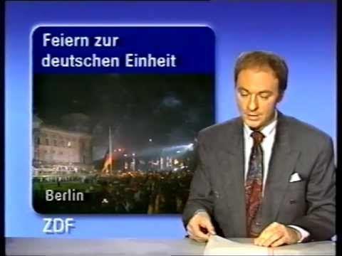 ZDF Heute Nachrichten 3.10.1990 Tag der deutschen Einheit - Originalsendung, glaube ich