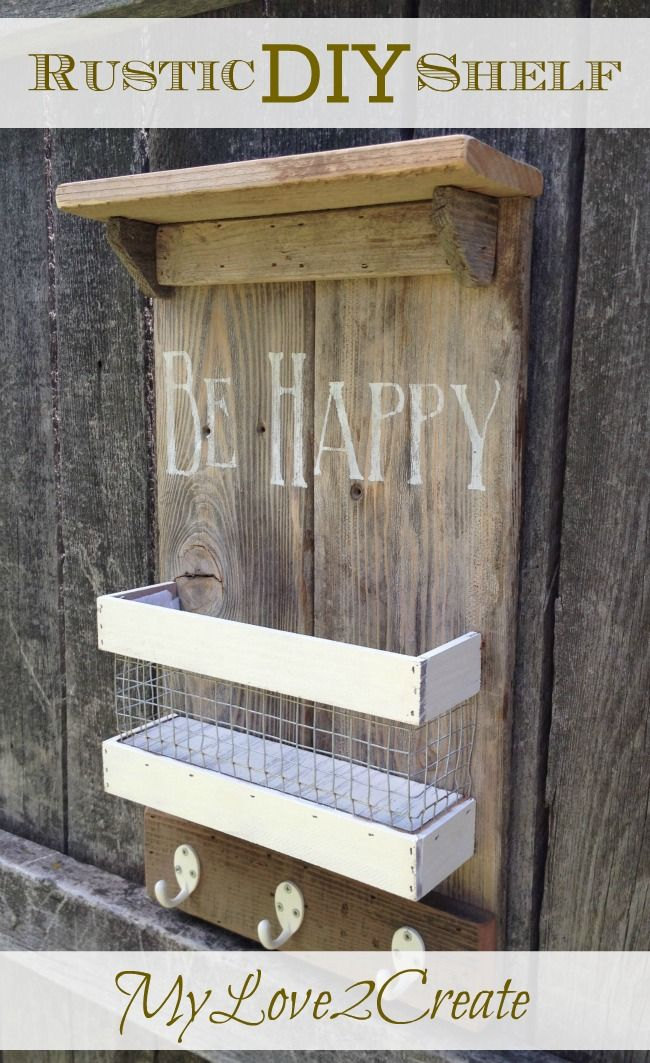 Add rustic charm to any room in the house with this Rustic DIY Shelf! Perfect to store so many things! OHMY-CREATIVE.COM