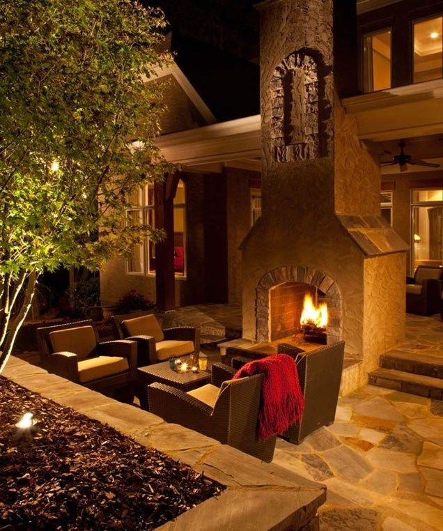 Glowing Outdoor Fireplace Ideas: 4181 Best Images About Patio And Outdoor Spaces On