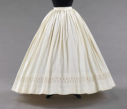 Petticoat  Date: ca. 1865 Culture: American Medium: cotton