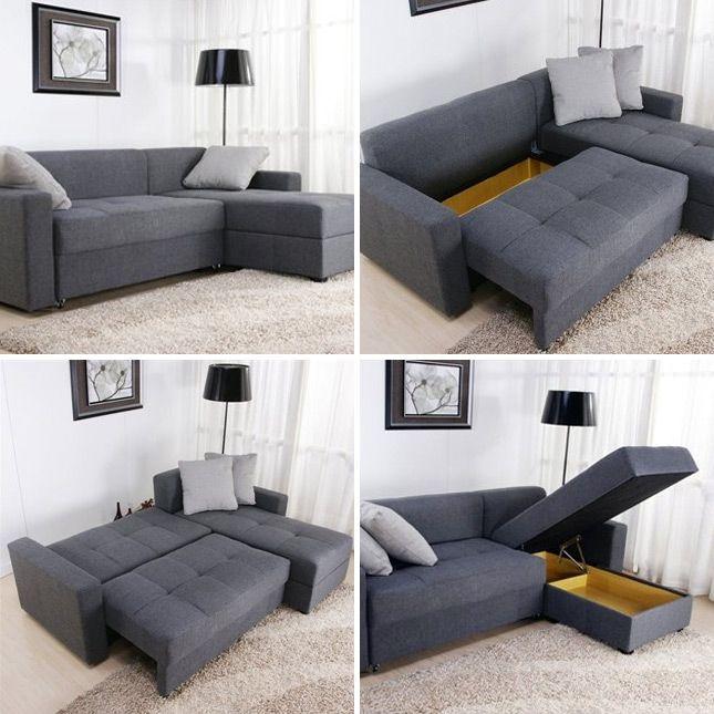 Tiny Sectional Sofa - Foter | Tiny house | Convertible furniture ...