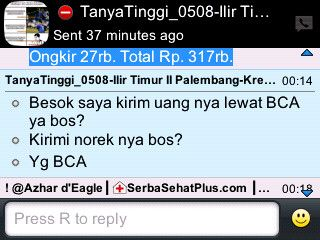 Pengiriman #PaketPeninggiBadan Exclusif 10 hari ke Illir Timur - Palembang.... Mau? Whatsapp di 088970011459 / Pin:32F1E6C2