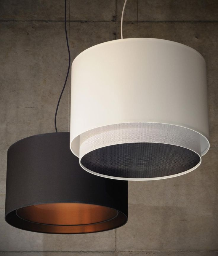 Australian made fabric shade pendants, custom made in a range of designs, colours, and sizes.