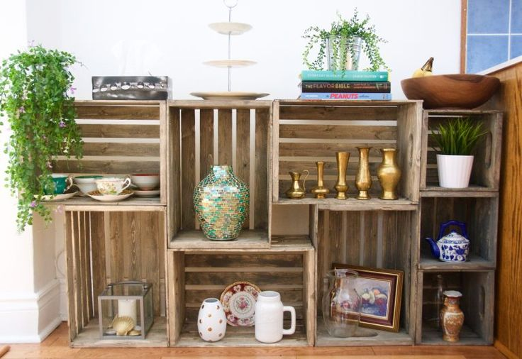 Holzkiste Display Regale DIY – Eclectic Spark   – Kitchen