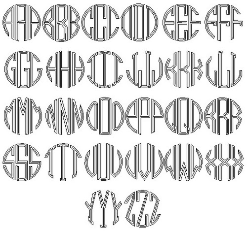 Tattoo Fonts Circle Tattoo Lettering Fonts Artwork And