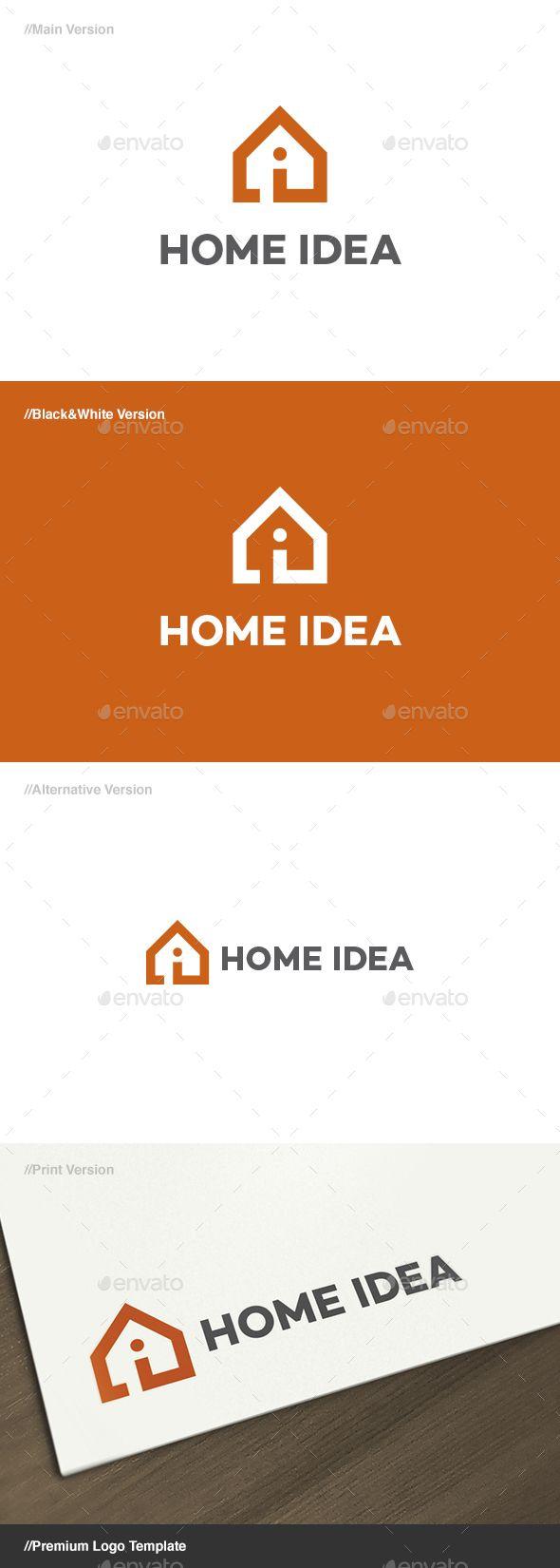 Home Idea Logo — Vector EPS #interior design #home • Available here → https://graphicriver.net/item/home-idea-logo/17532665?ref=pxcr