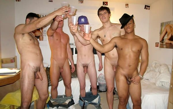 Guys enjoying being about to be Inspected by CFNM party women