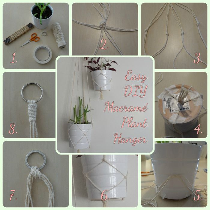 How to DIY a simple macramé plant hanger!  Follow my blog for more DIY's and cat…