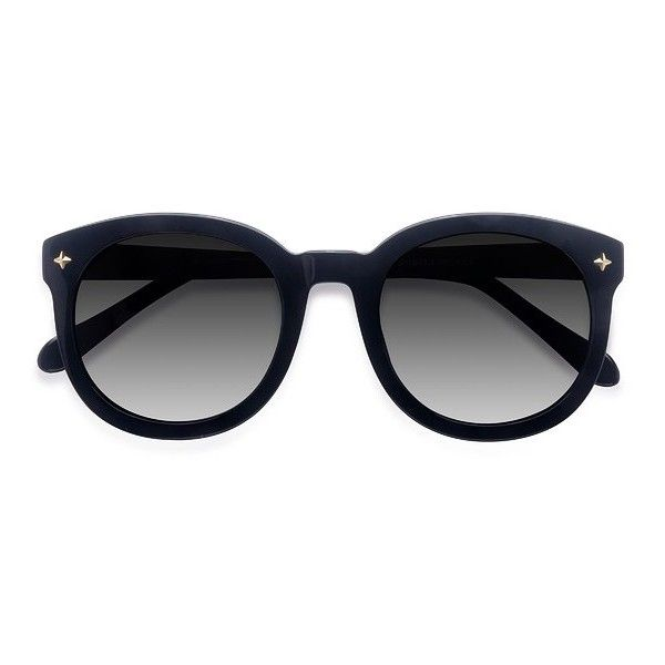 Women's Paige - Black round - 16793 Rx Sunglasses ($49) ❤ liked on Polyvore featuring accessories, eyewear, sunglasses, lens glasses, round glasses, round sunnies, round eyewear and rounded sunglasses