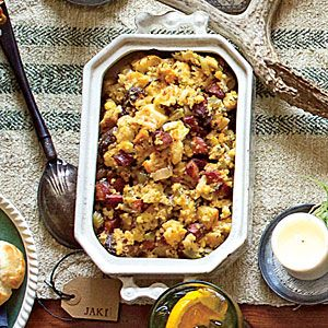 Cornbread Stuffing With Andouille, Fennel, And Bell Peppers Recipes ...
