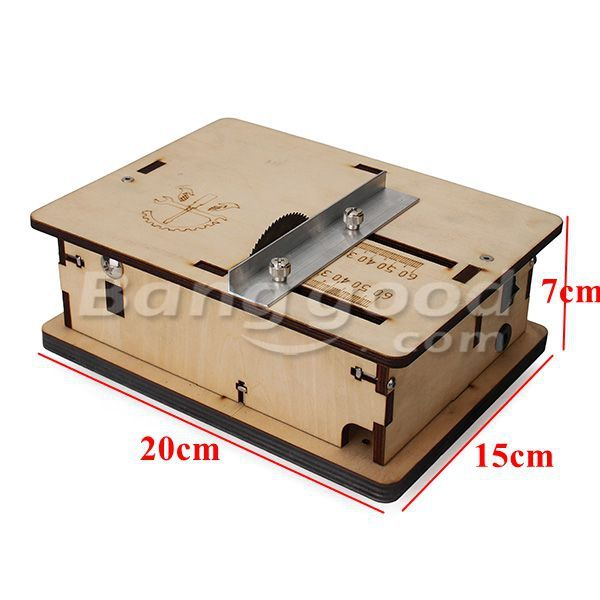 DIY Mini Table Saw Handmade Woodworking Model Saw With Ruler Sale-Banggood.com