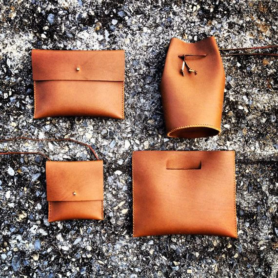 Caramel Leather Bags (backpack accessories - designed to paired with backpack)