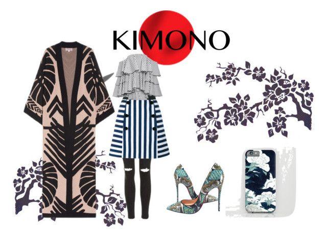 """Kimono"" by ginewwra on Polyvore featuring moda, Temperley London, Topshop, Christian Louboutin, Dolce&Gabbana, Caroline Constas i kimonos"