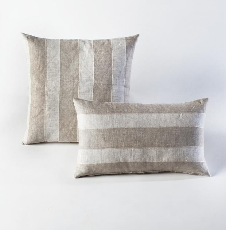 Belgian Stripes Pillow - HomeMint: Linens Pillows, Living Room, Stripes Cushions, Throw Pillows, Homemint Com, Stripes Linens, Pillows Homemint, Stripes Pillows, Belgian Stripes