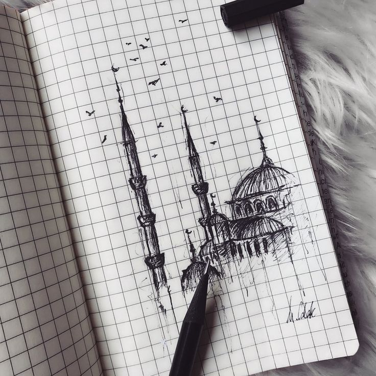 #art #istanbul #mosque #pinterest #drawing #sketch…