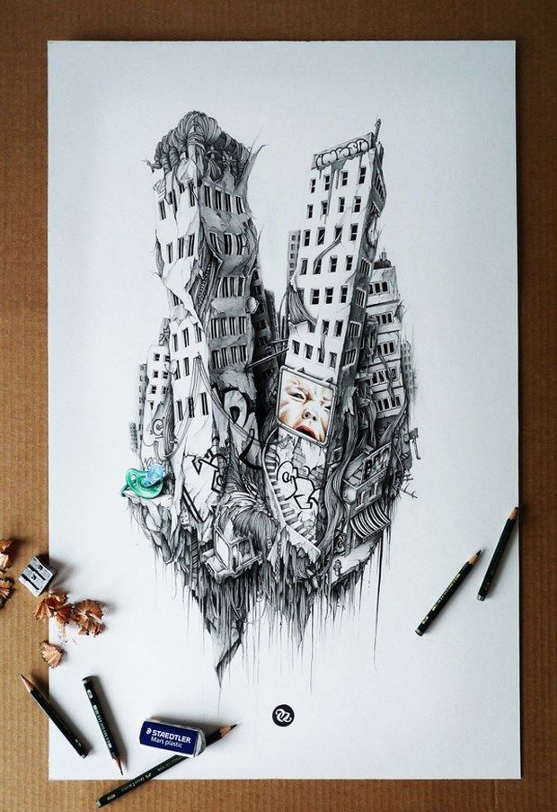 Fantastic Pencil Sketch Art By Pez