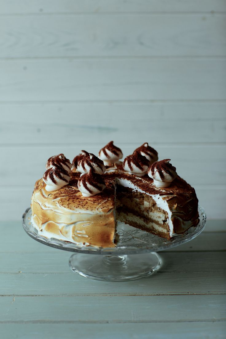 Instant coffee meringue gâteau recipe from Home Comforts by James Martin | Cooked