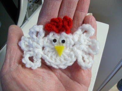 Little Chicken - Free Crochet Pattern - cute of use as fridgie