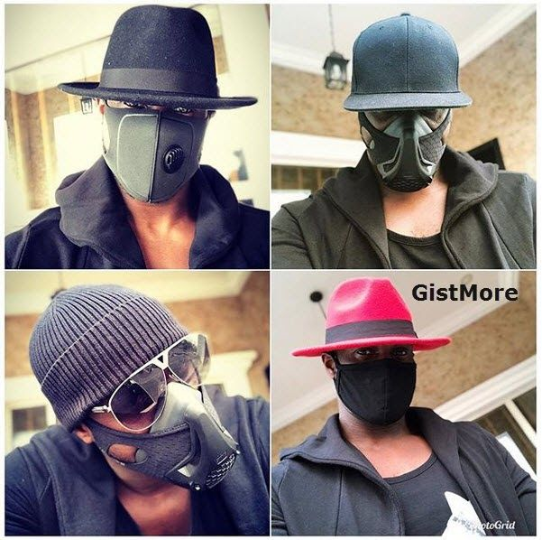 """1. Peter okoye of PSquare aka Mr. P wore the face mask for his music video tittle """"My Way""""  2. Wizkid wore the face mask to Davido's #30billiongangtour that recently held in UK  3. Comedian Akpororo wore the face mask to his own show comedy show tagged """"AkpororoLiveOnStage""""  4. Olamide baddoo wore the face mask for his recently released hit music video single """"Science Student"""""""