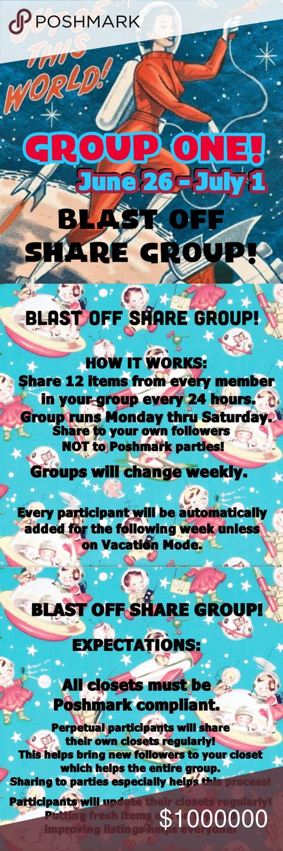 🚀GROUP ONE BLAST OFF🚀 Let's support each other and make some sales! 💰 This is a no drama zone! 🚫 Boutique Accessories