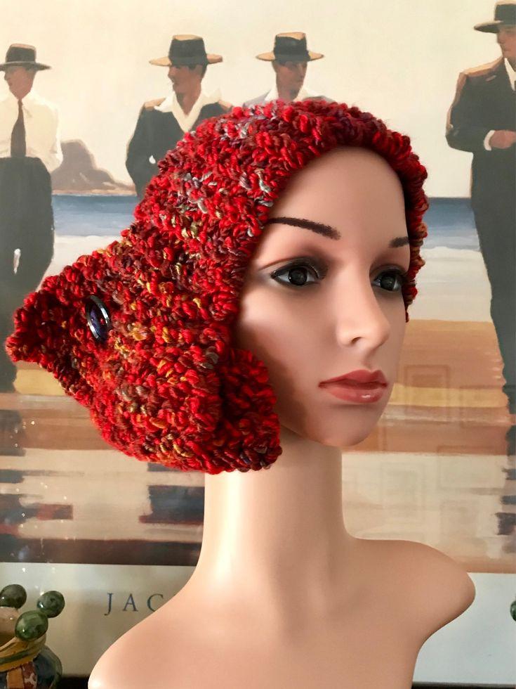 """Sono felice di condividere l'ultimo arrivato nel mio negozio #etsy: Fascia-collo """"Anni '20"""" http://etsy.me/2D9f4UJ #accessori #capelli #fascepercapelli #rosso #cowl #collo #fascia #handmade #elegante"""